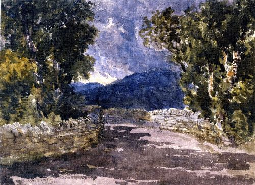 A Welsh Road | David Cox | oil painting