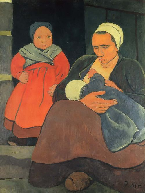Bretonne allaitant | Paul Serusier | oil painting
