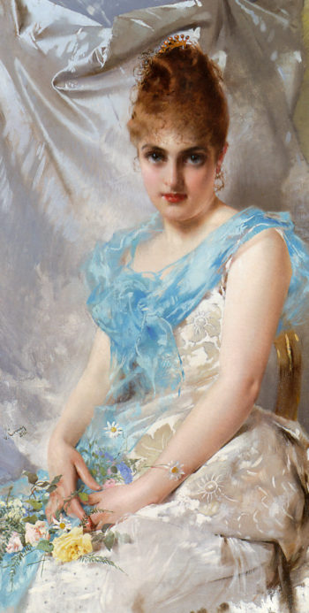 A Spring Beauty 1 | Vittorio Matteo Corcos | oil painting