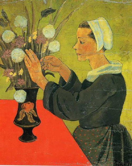 Bretonne au bouquet   Paul Serusier   oil painting
