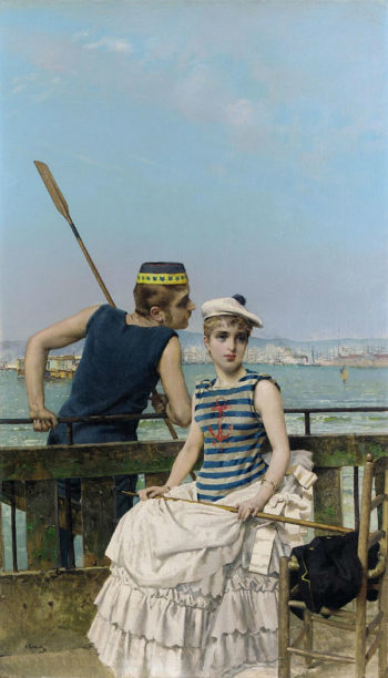 At the Regatta | Vittorio Matteo Corcos | oil painting