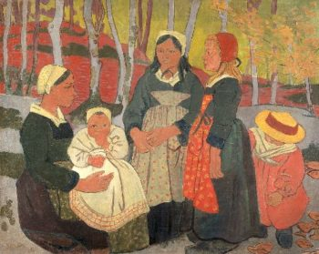 Bretons in the Forest of Huelgoat | Paul Serusier | oil painting
