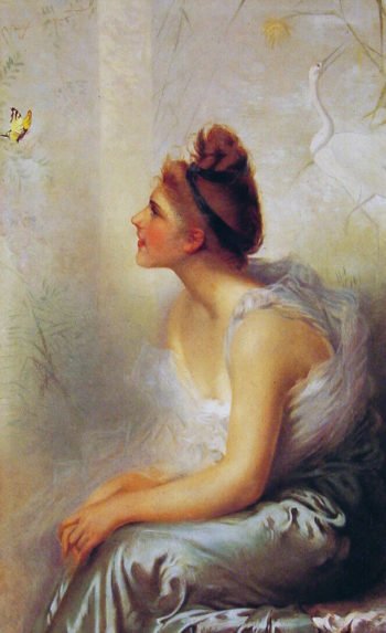 Beauty and the Butterfly | Vittorio Matteo Corcos | oil painting
