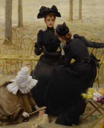Conversations in the Garden of Luxembourg | Vittorio Matteo Corcos | oil painting