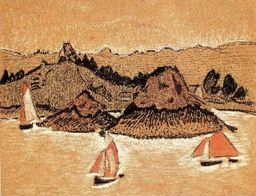 Fishing Boats On The Breton Coast | Paul Serusier | oil painting