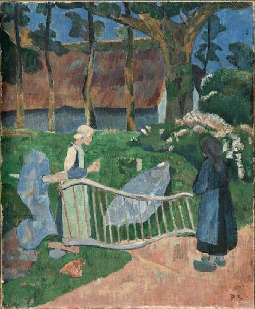 La barriere fleurie Le Pouldu | Paul Serusier | oil painting
