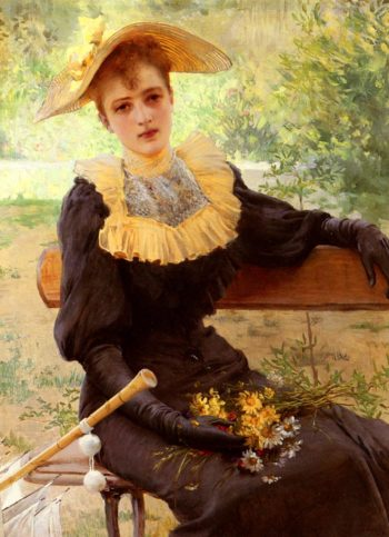 In The Garden | Vittorio Matteo Corcos | oil painting