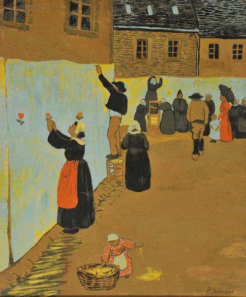 La Fete Dieu a Chateauneuf du Faou   Paul Serusier   oil painting