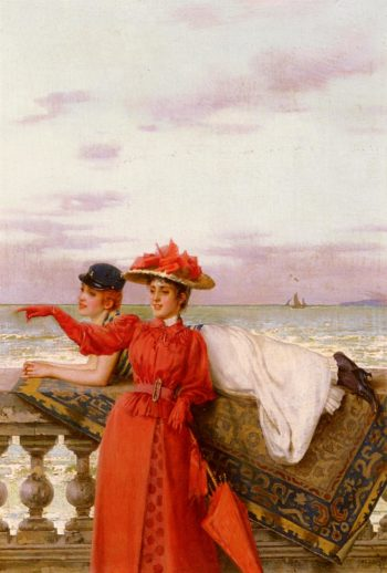 Looking Out To Sea | Vittorio Matteo Corcos | oil painting