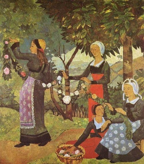 La Guirlande de roses | Paul Serusier | oil painting