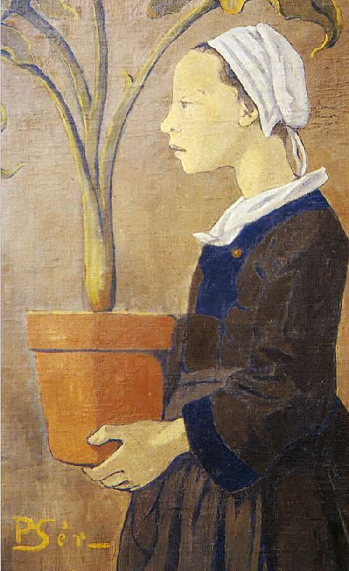 La jeune Bretonne au pot d'arun | Paul Serusier | oil painting