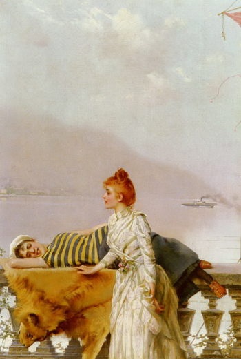 On The Balcony | Vittorio Matteo Corcos | oil painting