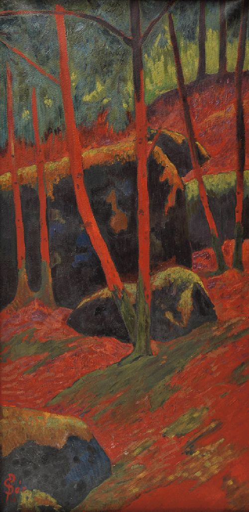 Le Bois rouge | Paul Serusier | oil painting