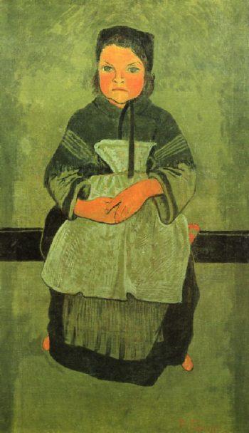 Little Breton Girl Seated | Paul Serusier | oil painting