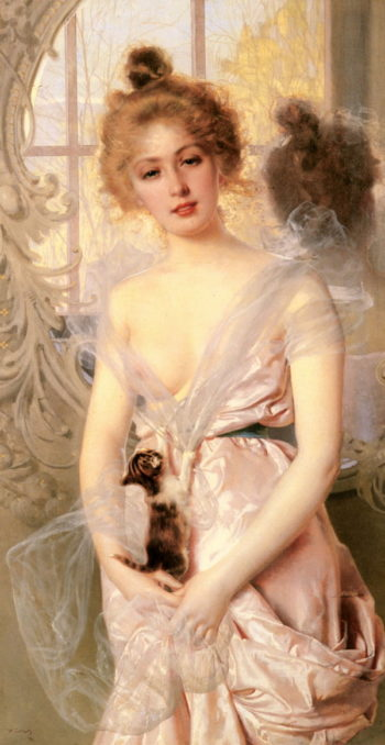 The New Kitten | Vittorio Matteo Corcos | oil painting