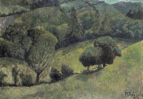 Paysage au vallon | Paul Serusier | oil painting