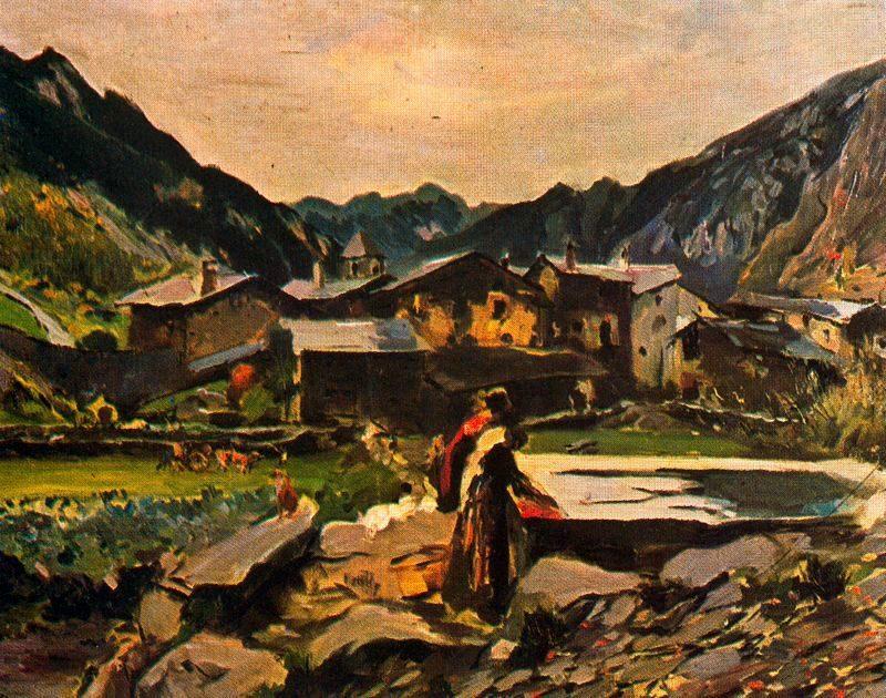 Afores d'Andorra | Joaquin Mir Trinxet | oil painting