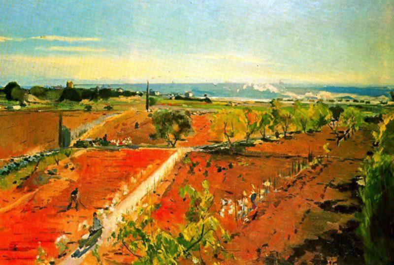 Afueras de Vilanova | Joaquin Mir Trinxet | oil painting