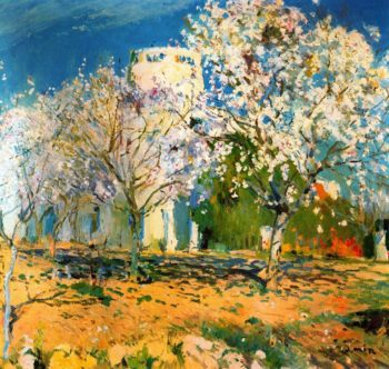 Almendros floridos | Joaquin Mir Trinxet | oil painting