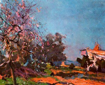 Ametller florit | Joaquin Mir Trinxet | oil painting