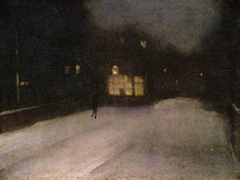 Nocturne in Grey and Gold Chelsea Snow | James Abbott McNeill Whistler | oil painting