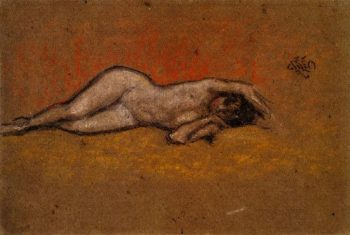 Nude Reclining | James Abbott McNeill Whistler | oil painting