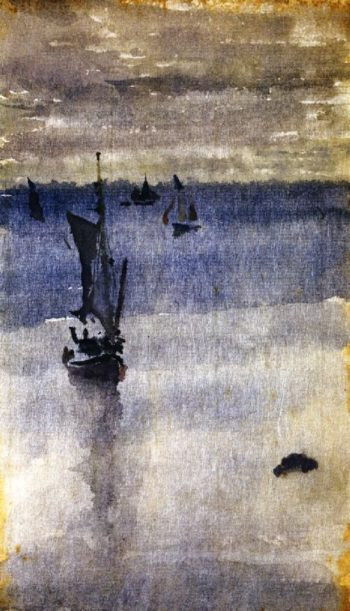 Sailboats in Blue Water | James Abbott McNeill Whistler | oil painting