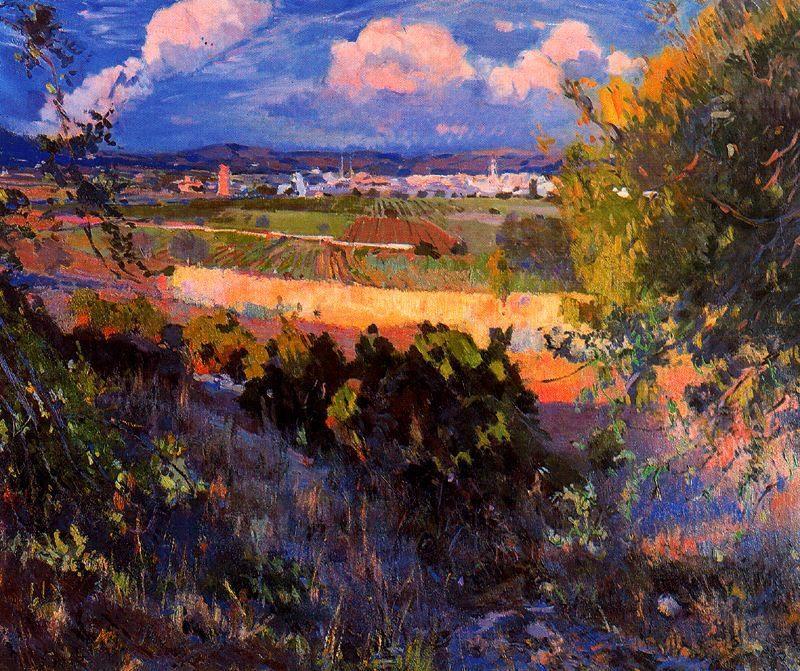 Paisaje de Vilanova | Joaquin Mir Trinxet | oil painting