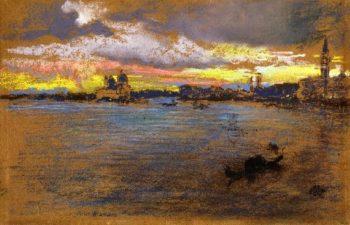 The Storm Sunset | James Abbott McNeill Whistler | oil painting