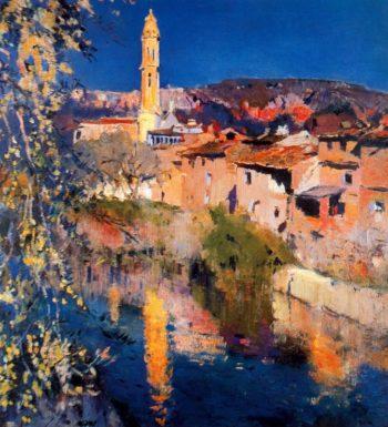 Paisaje Vilanova 1 | Joaquin Mir Trinxet | oil painting