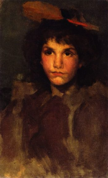 Violet and Blue The Red Feather | James Abbott McNeill Whistler | oil painting