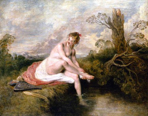 Diana Bathing | Jean Antoine Watteau | oil painting
