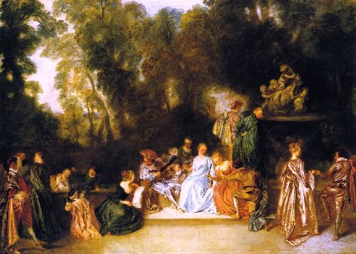 Entertainment in the Open Air | Jean Antoine Watteau | oil painting