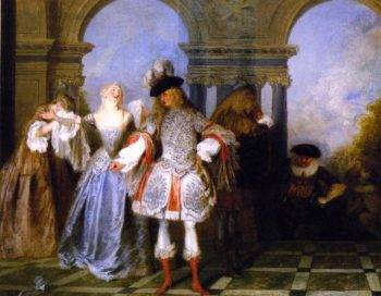 French Players | Jean Antoine Watteau | oil painting
