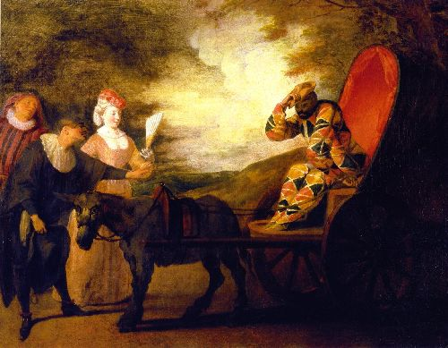 Harlequin Emperor on the Moon | Jean Antoine Watteau | oil painting