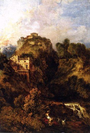 Landscape with Goat | Jean Antoine Watteau | oil painting