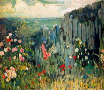 Primavera Montserrat | Joaquin Mir Trinxet | oil painting