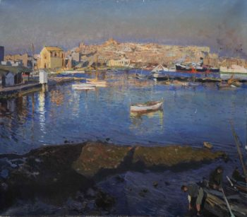 Puerto de Tarragona | Joaquin Mir Trinxet | oil painting
