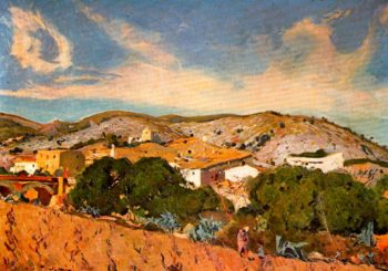 Raval de Sant Pere de Ribes | Joaquin Mir Trinxet | oil painting