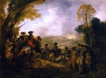 On the March | Jean Antoine Watteau | oil painting