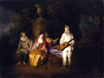 Party of Four | Jean Antoine Watteau | oil painting