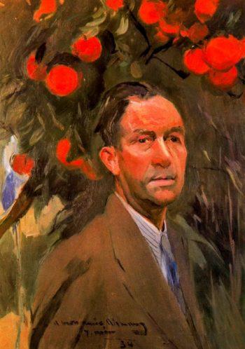 Retrato del escultor Alemany | Joaquin Mir Trinxet | oil painting