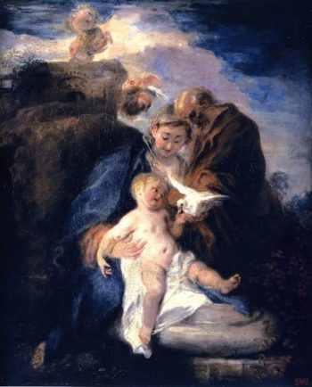 Rest on the Flight into Egypt | Jean Antoine Watteau | oil painting