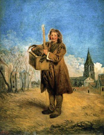 Savoyard with Marmot | Jean Antoine Watteau | oil painting