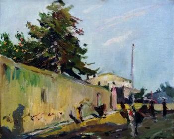 Suburbios de Villanueva | Joaquin Mir Trinxet | oil painting