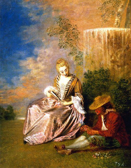 The Anxious Lover | Jean Antoine Watteau | oil painting