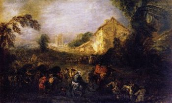 The Burdens of War | Jean Antoine Watteau | oil painting