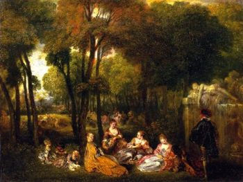 The Champs Elysees | Jean Antoine Watteau | oil painting