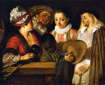 The Coquettes | Jean Antoine Watteau | oil painting