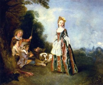 The Dance | Jean Antoine Watteau | oil painting